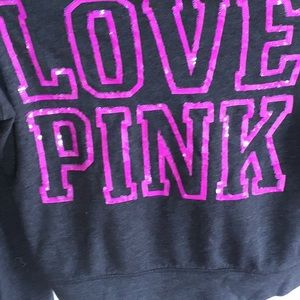 Pink- Zip up the front sweatshirt